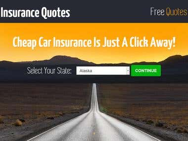 Installing Javascript code and HTML form for insurance quote