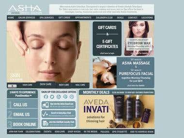 Asha Salon Spa Application