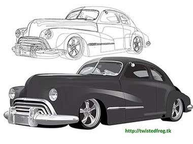 1948 Dodge Vector Illustration