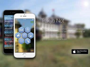 Trakya University iphone application