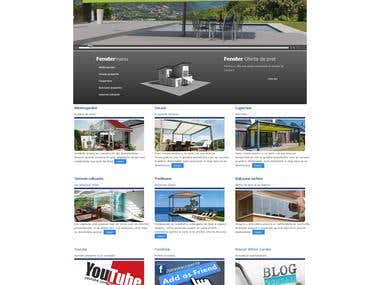 Web design for Sanlux