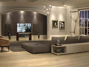 3D design - Classical home theater