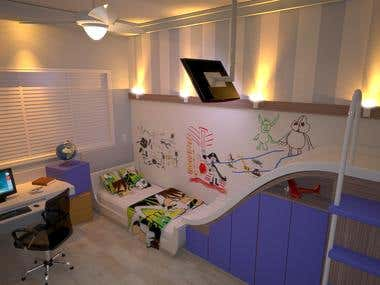 3D design - Kid bedroom