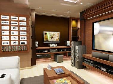 3D design - Home theater store