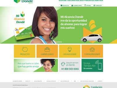 MOCK UP WEBSITE DONDE BANCO