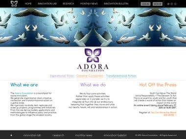 Adora Foundation Home Page contest
