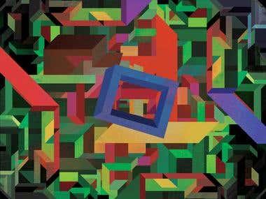 Geometric Modernist Illustration