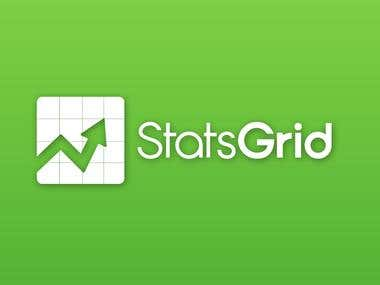 StatsGrid Logo Design