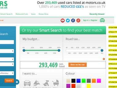 Collect Individual Used Car Sellers Contact Details