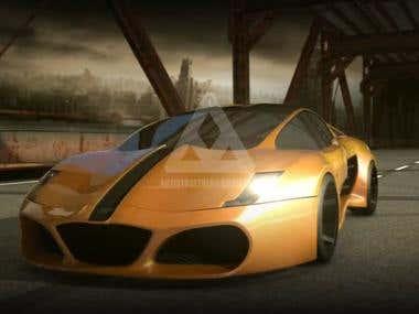 3D MODEL CAR AND BG