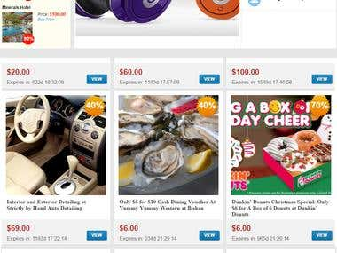 E-commerce : Deals website -  sunnysydney.com.au