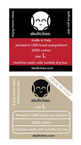 Design labels for T-shirts