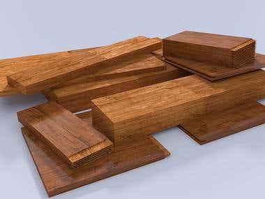 sawed wood profiles
