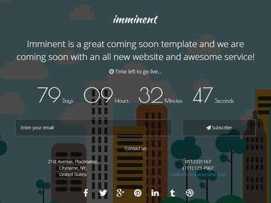A responsive Coming Soon HTML template