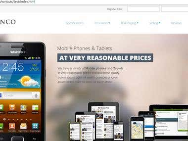 E-commerce website for an electronics store