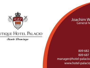 Design some Business Cards for Hotel manager and others