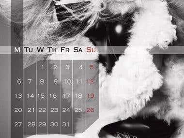 Fashion Calendar. Graphic design example