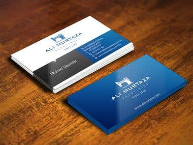 Design a leading edge business card for an architectural com