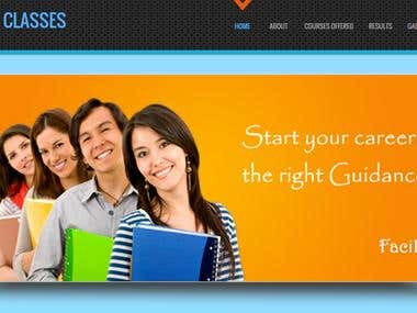 Website Design for Bhavani Classes