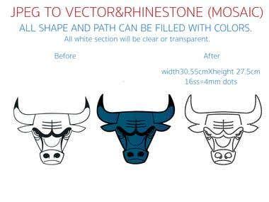 Rhinestone IMAGE and VECTOR