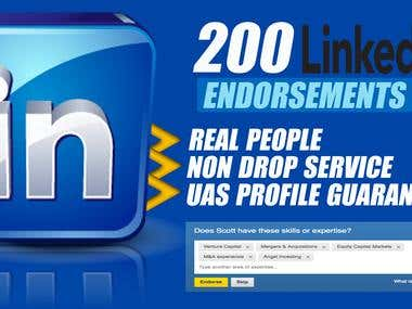 200 LinkedIn endorsements only for $5