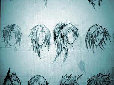 Manga Styled Character Head