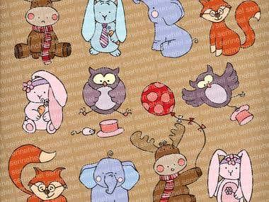 Animal Characters Illustrations