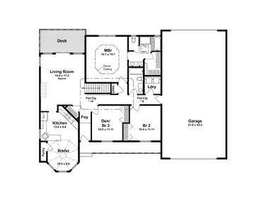 House plans drawn to build a house