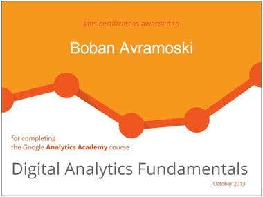Course in Google Analytics