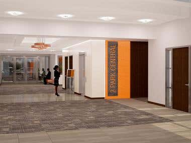 Interior Lobby Rendering