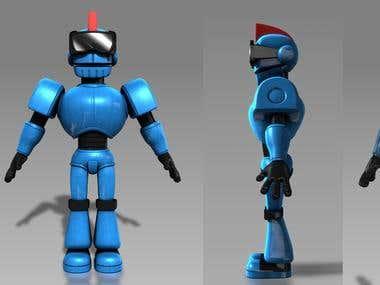 Blue Robot Model