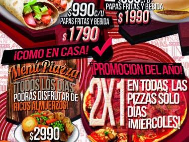 Flyer promociones restaurant