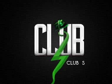 "Logotipo discoteca \""CLUB s\"""
