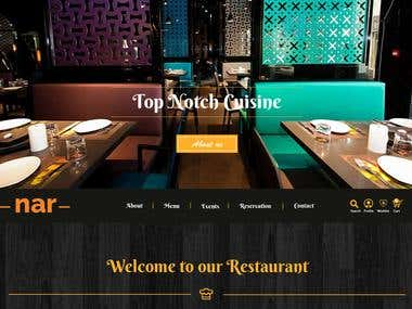 Restaurant Home page