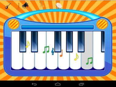 Kids Music Instruments Application