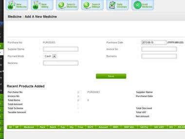 Medicine Retail Billing Software