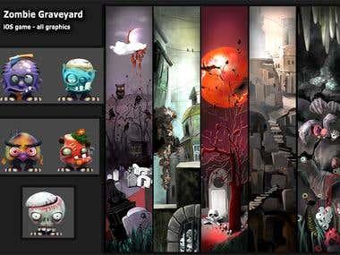 Zombie Graveyard Jump iOS game