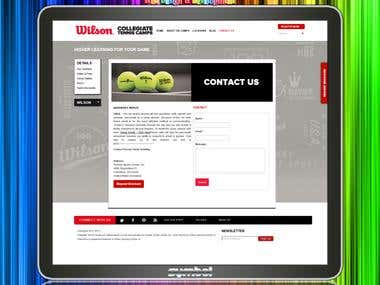 Tenis camp website