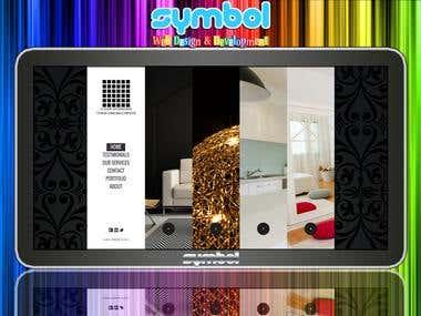 Interior Decor Website with CMS