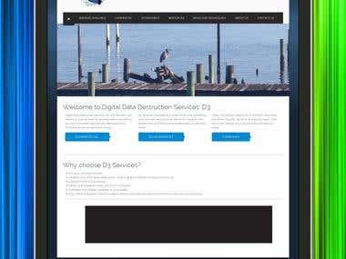 Website for a digital company.