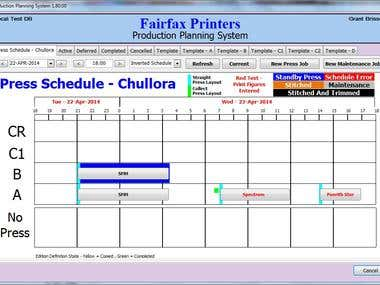 Production Planning System - Schedule