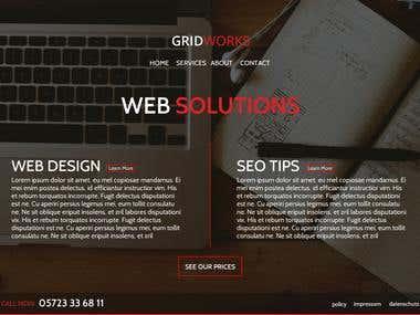 Website design gridworks