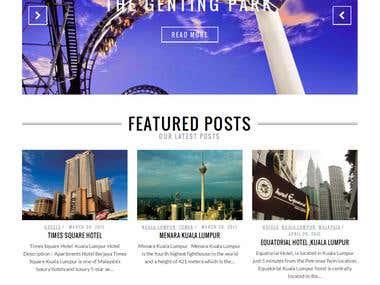 Tourism Site in WordPress