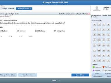 Exam Interface PHP Application
