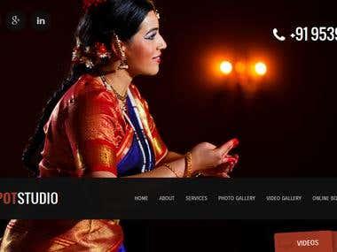 photography studio website