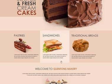 website for bakery
