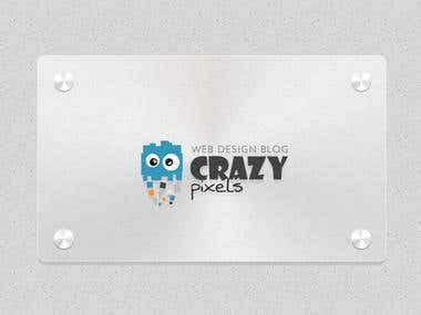 Crazy Pixels Logo design