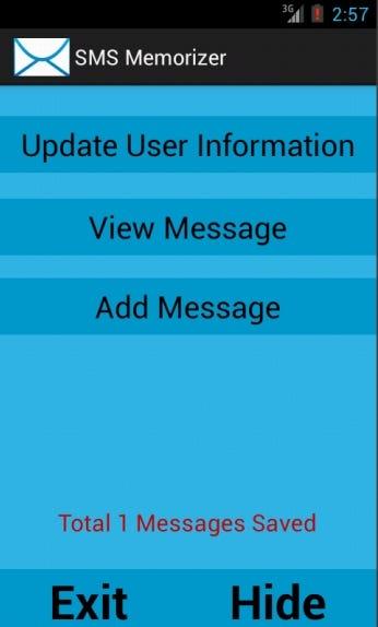 SMS Memorizer