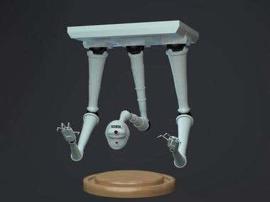 3D Guidance Robot character Turntable
