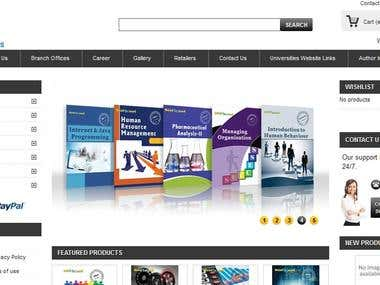 E commerce website using Prestashop